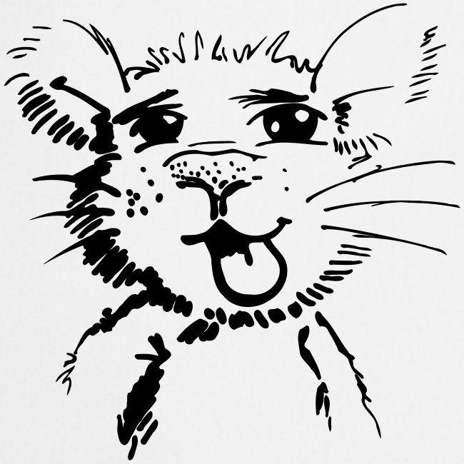 tekening grappige kleine muis keukenschort tekenen