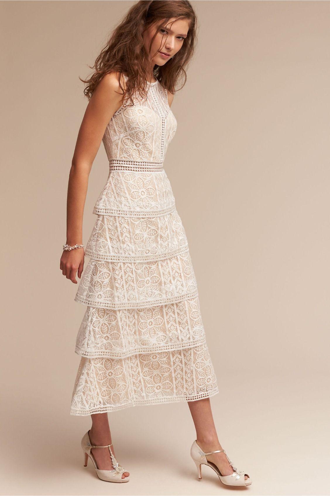 pretty midi Adeline Dress from BHLDN Wedding guest