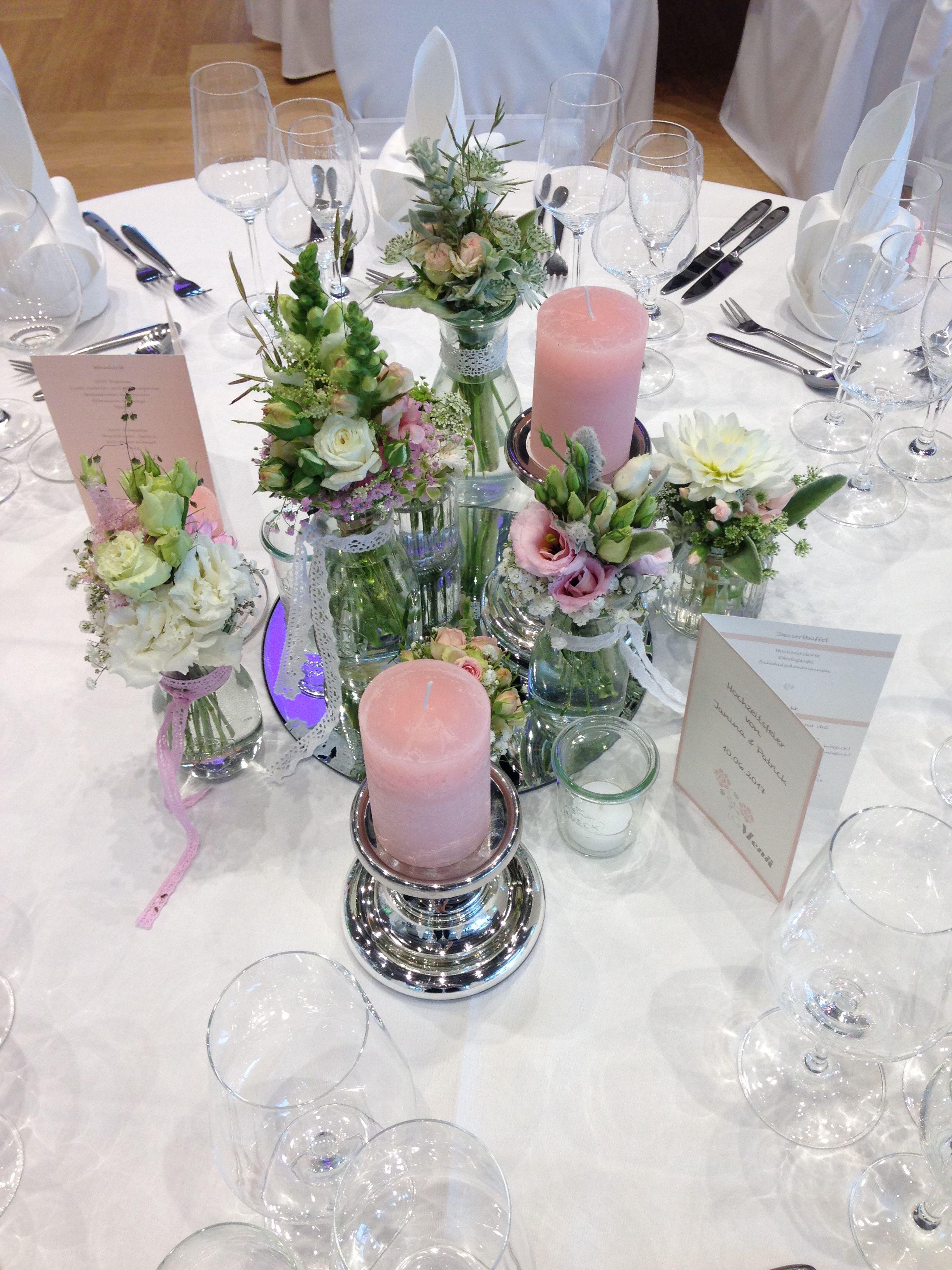 Vintage Tischdeko In Rosa Weiss Silber Hochzeiten