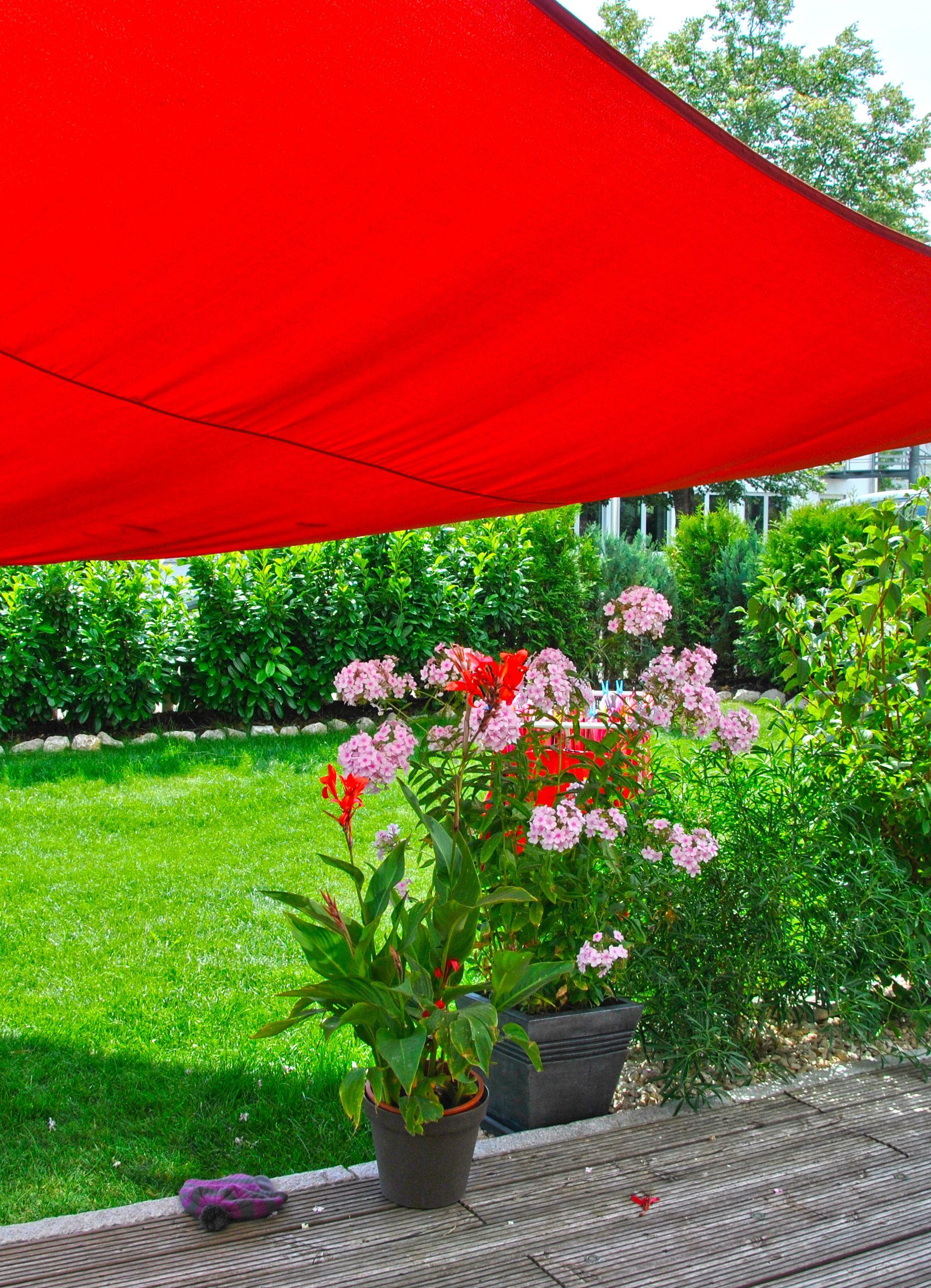 Garten Schöner Wohnen sonnensegel garten blume schöner wohnen mit unseren sonnensegeln