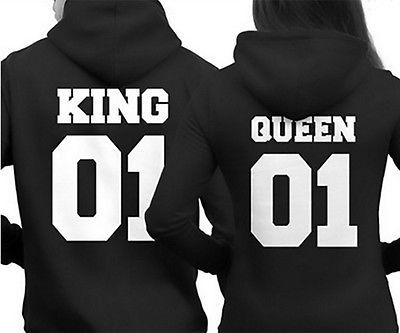 a12aeb37f97 Par Sudadera con capucha King 01 y Reina 01-el amor que empareja con  Capucha Sudadera Con Capucha-Par