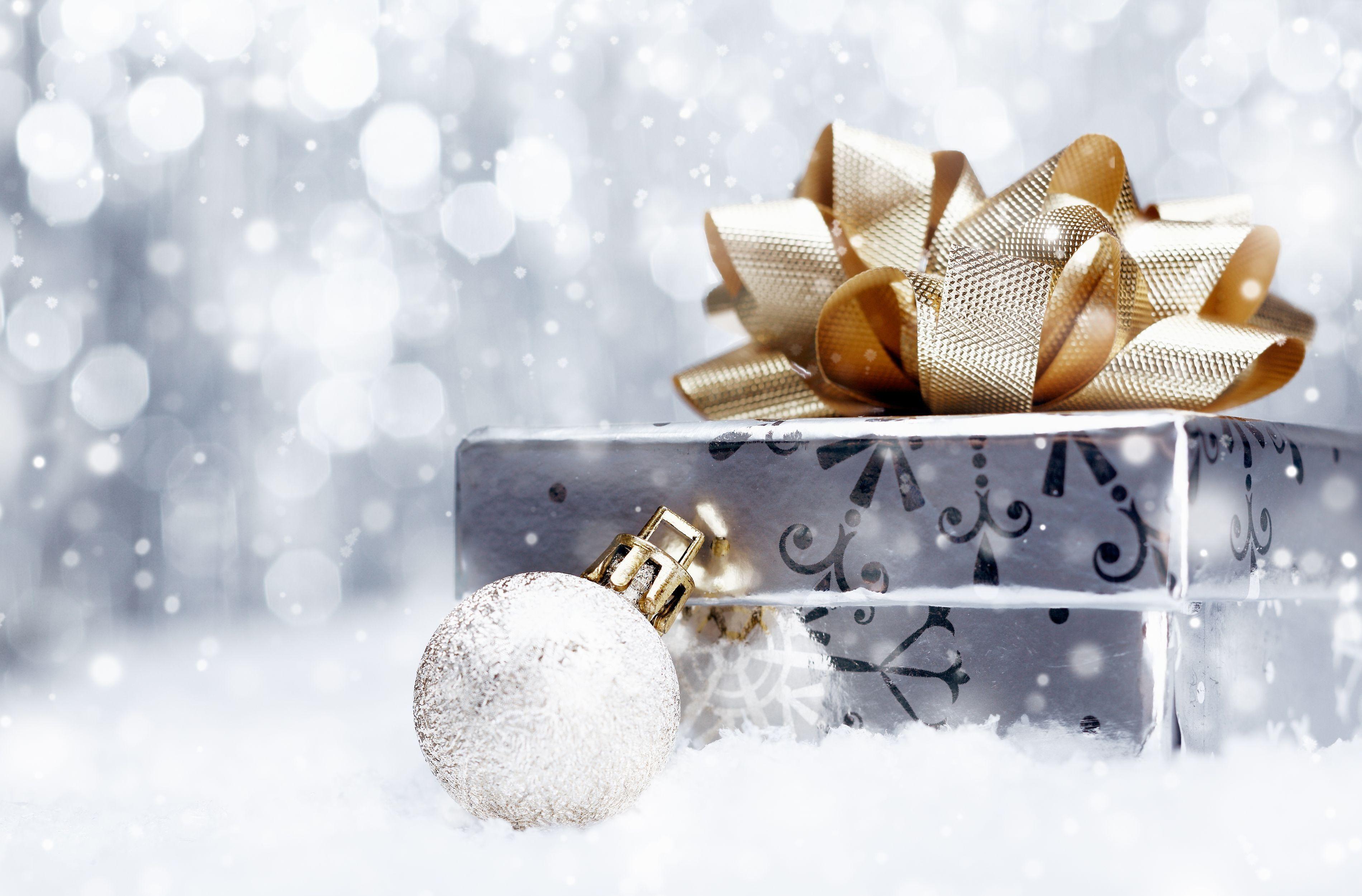 holiday, new year, christmas, gift, box, decorations, ball ...