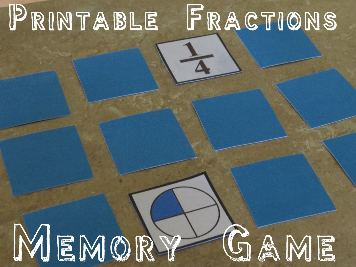 Printable Fraction Game Pieces