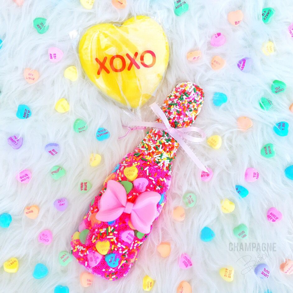 Candy Land Champagne with Sweethearts & Sprinkles by @champagnebisou ...