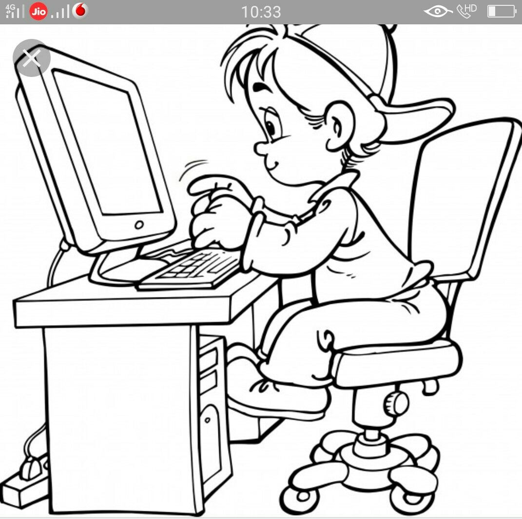 Image by Asima on amry | Kids computer, Coloring pages for ...