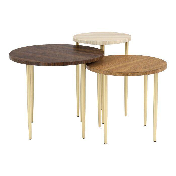 Schmid 3 Piece Nesting Table Nesting Tables Round Nesting Coffee Tables Nesting Coffee Tables