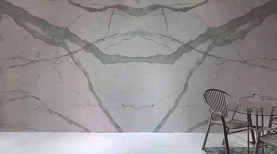 24 Porcel Thin Calacatta Book Match White Marble Effect Porcelain