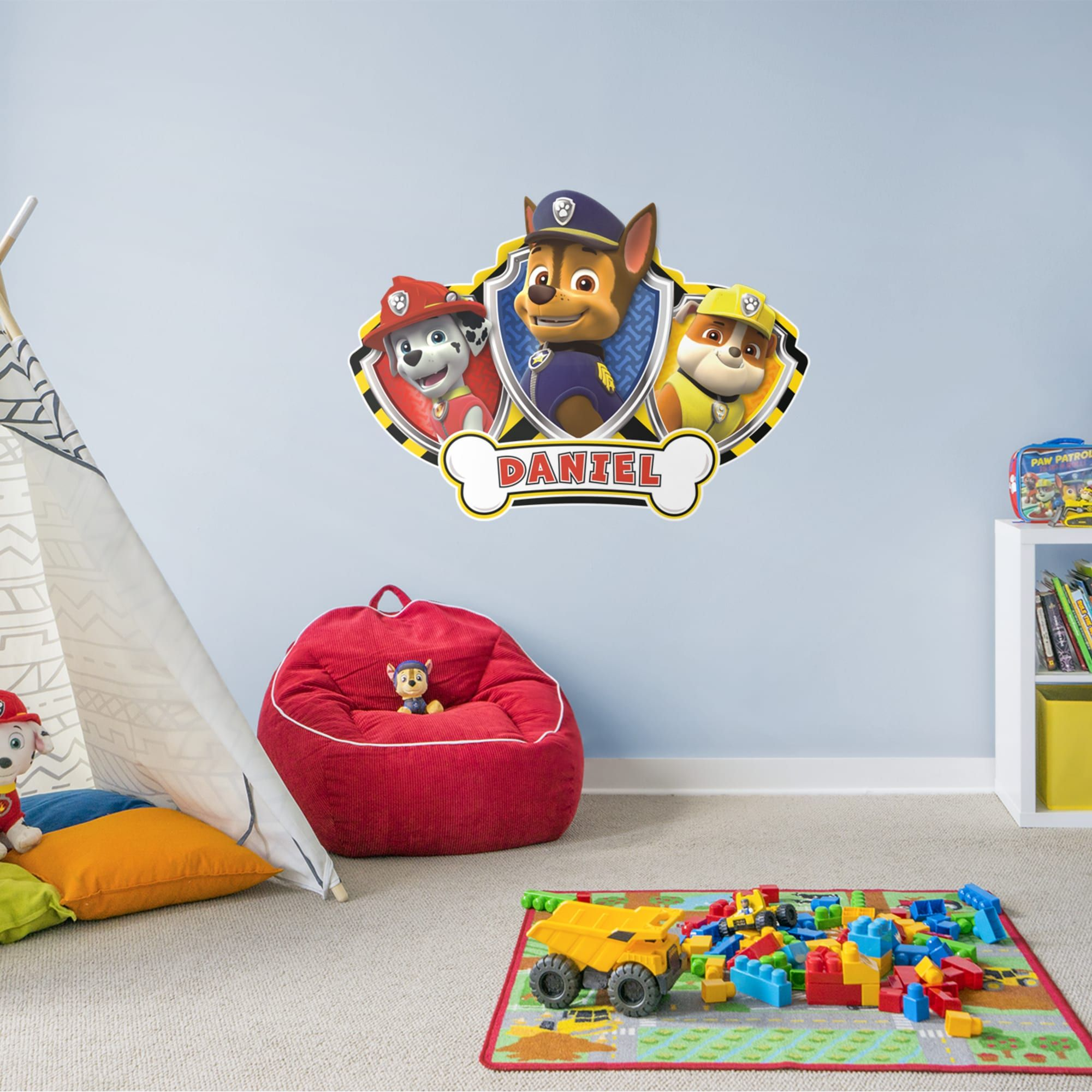 Paw Patrol Personalized Name Giant Officially Licensed