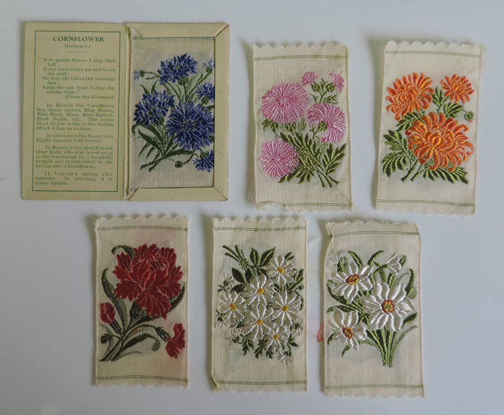 Kensitas Silk Flowers Cigarette Cards Mixed Lot 4