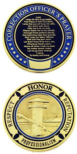 Correction officer prayer challenge coin | Law Enforcement