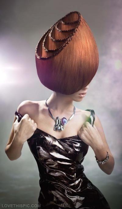 avant-garde abstract hair design