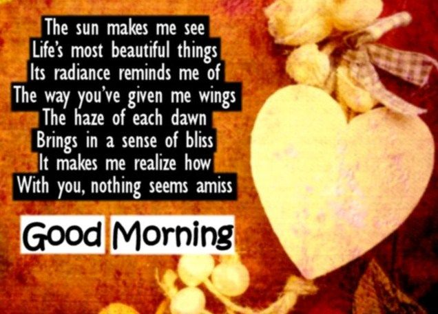 Cute morning poems for her
