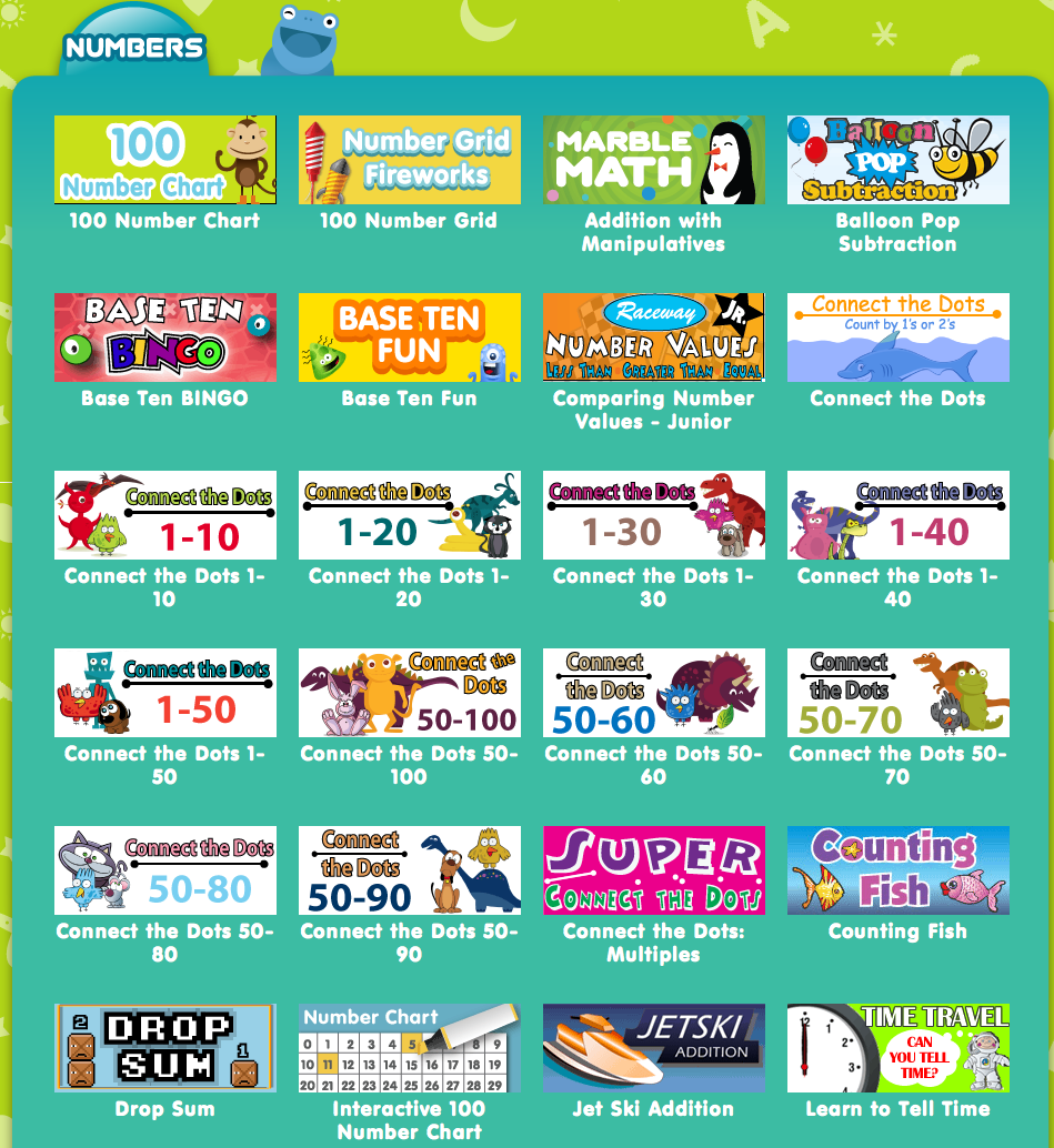 FREE Online Games from ABC\'ya! Math and Reading! | Educación ...