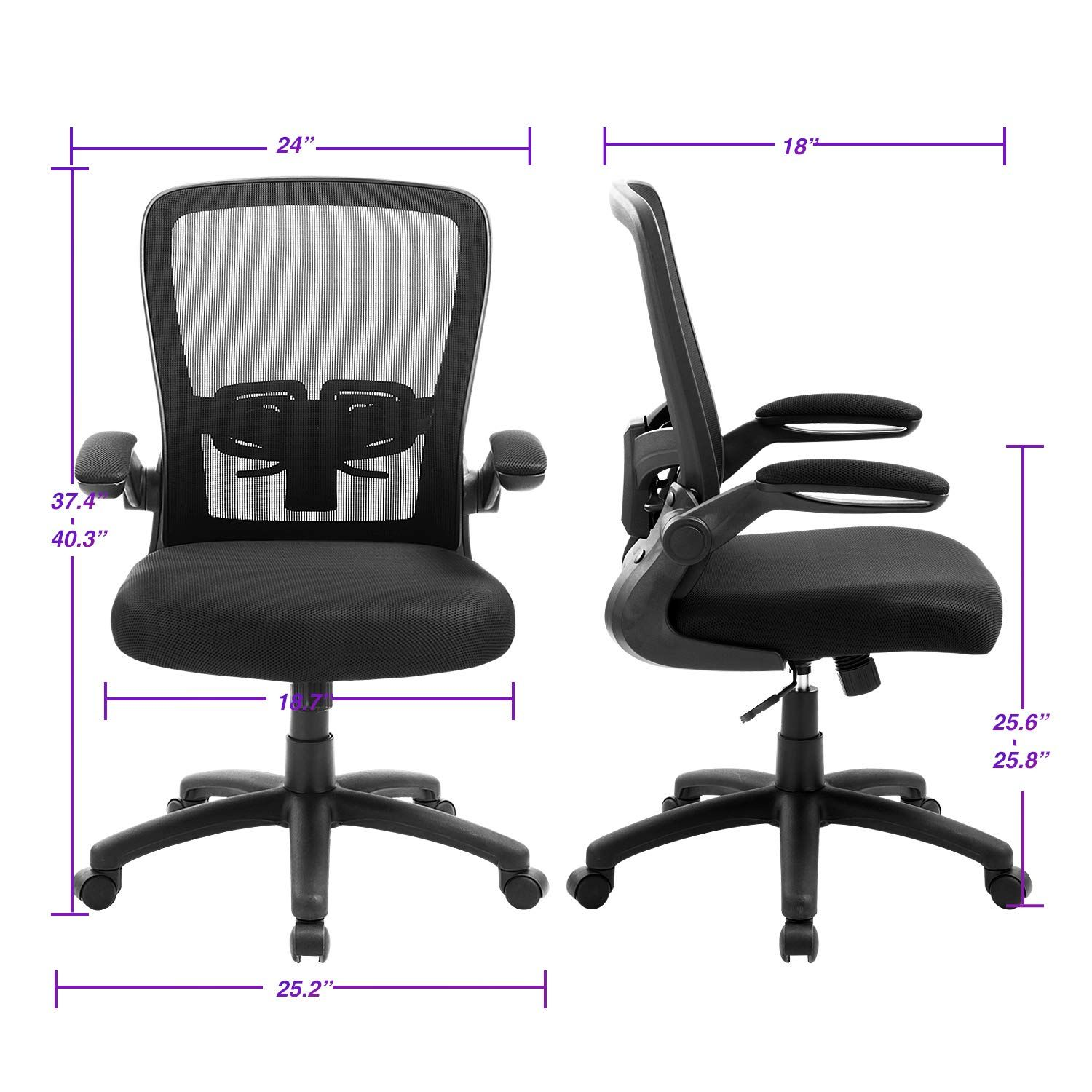 Office Chair Zlhecto Ergonomic Desk Chair With Adjustable Height