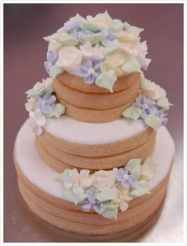 stacked wedding cake cookie favors stacked cookie favor 2 lookie cookie 20462