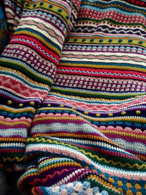 Skittles Crochet Blanket Pattern Is A Stunner | Pinterest | Crochet ...