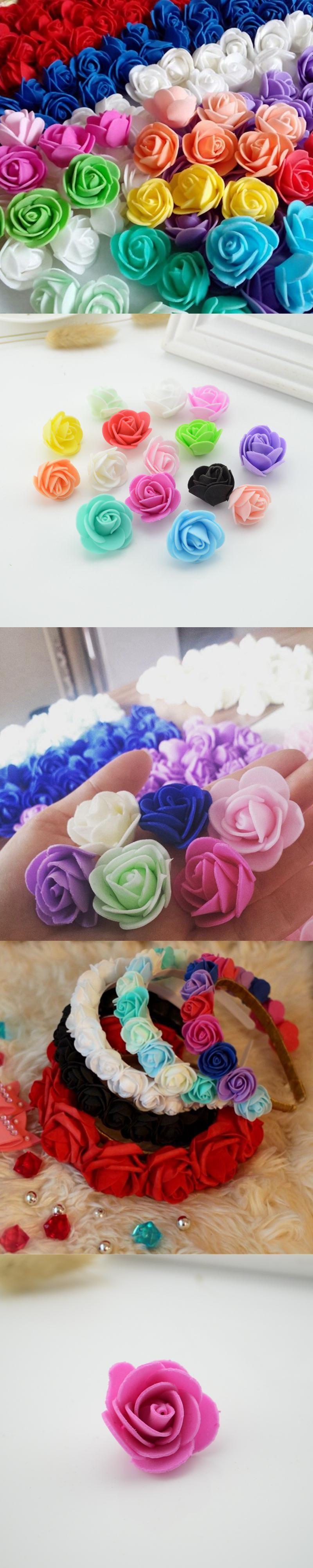 10pcs Mini Pe Foam Roses Artificial Flowers Cheap For Wedding Car