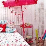 Beautiful Cool And Lovely DIY Girls Room Ideas With Pink Umbrella Diy Kids Room Decoration Projects Pink Sun Umbrella Silk Fringe Garlands