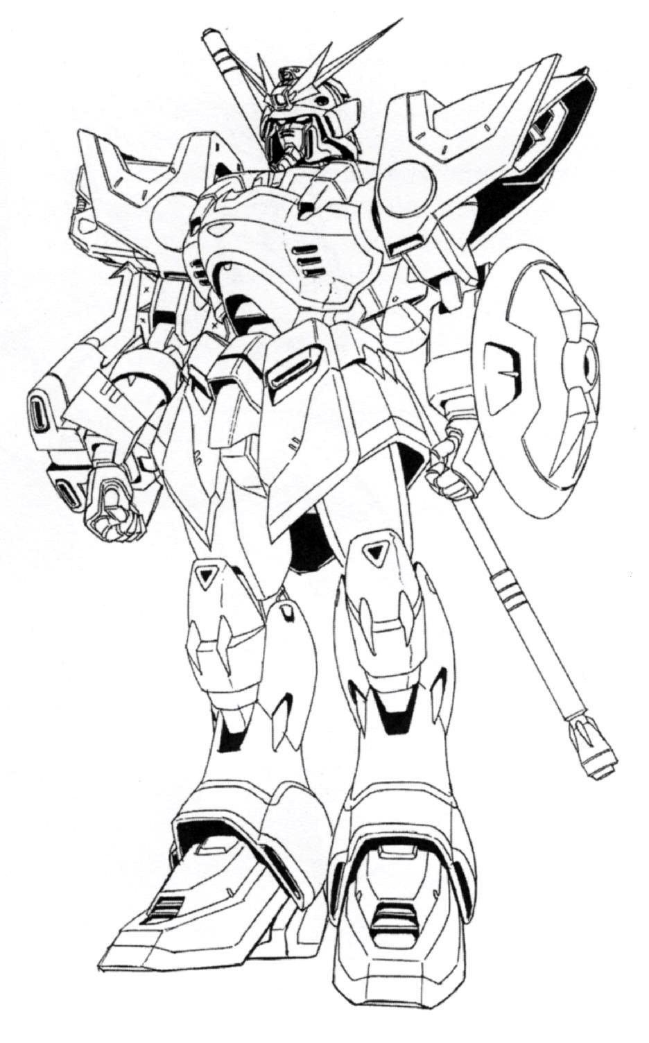 File Xxxg 01s Gundam Shenlong Front View Lineart In 2020 Coloring Pages Knights Of Sidonia Printable Coloring Pages