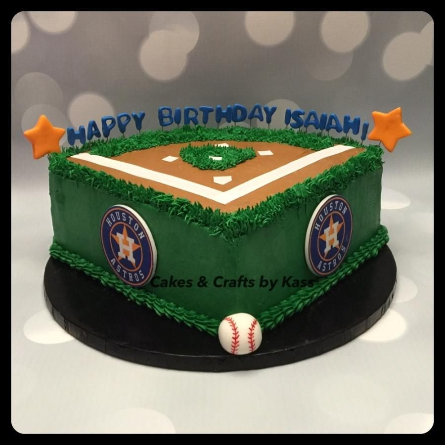 Amazing Houston Astros Baseball Field Cake Cake By Cakes Crafts By Birthday Cards Printable Giouspongecafe Filternl