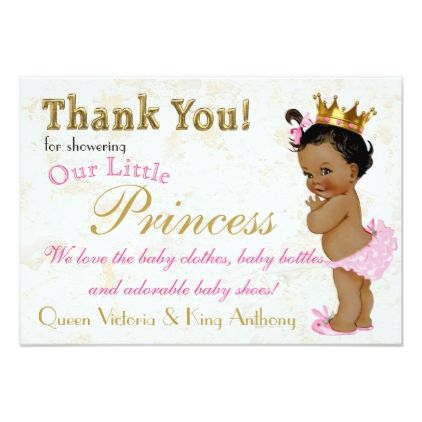 Blue Purple /& Gold Princess Royal Party Thank You Cards