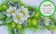 Pintura de flores com limões em tecido molhado - Luis Moreira