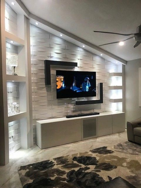 Living Room Wall Panel Design: Textured Wall Panels Vaults