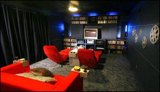 Stunning Movie Theater Design Ideas Contemporary - Interior Design ...