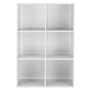buy phoenix 6 cube storage unit white at. Black Bedroom Furniture Sets. Home Design Ideas