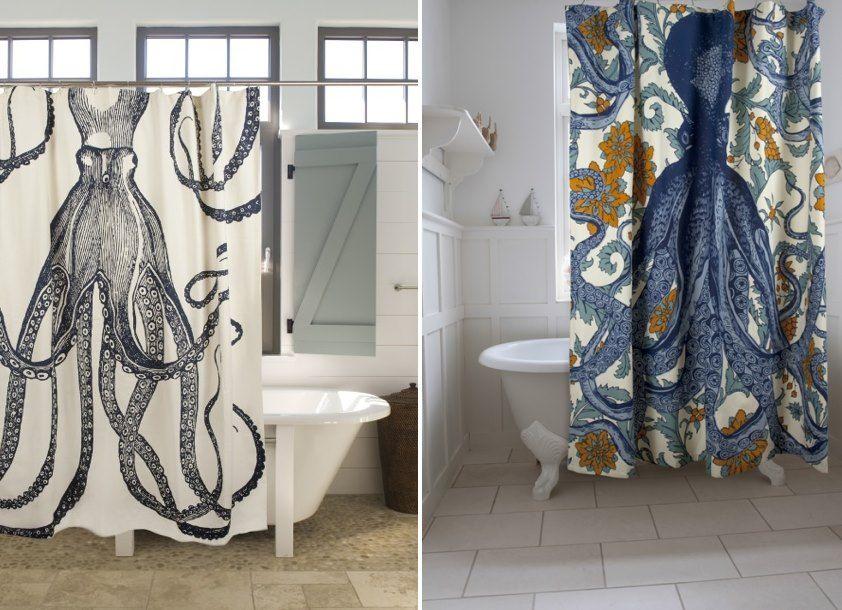 Elegant Highend Shower Curtains  Octopus Shower Curtains Glass Unique Elegant Bathroom Shower Curtains Inspiration