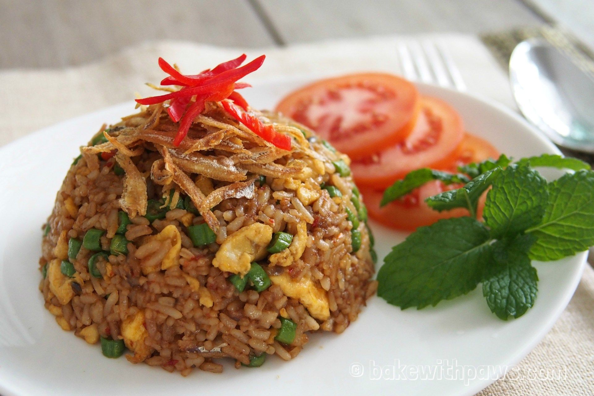 Nasi Goreng Kampung Is A Malay Style Fried Rice That Is Almost Always Found In The All Day Dining Menu Of A Nasi Goreng Kampung Nasi Goreng Recipe Nasi Goreng