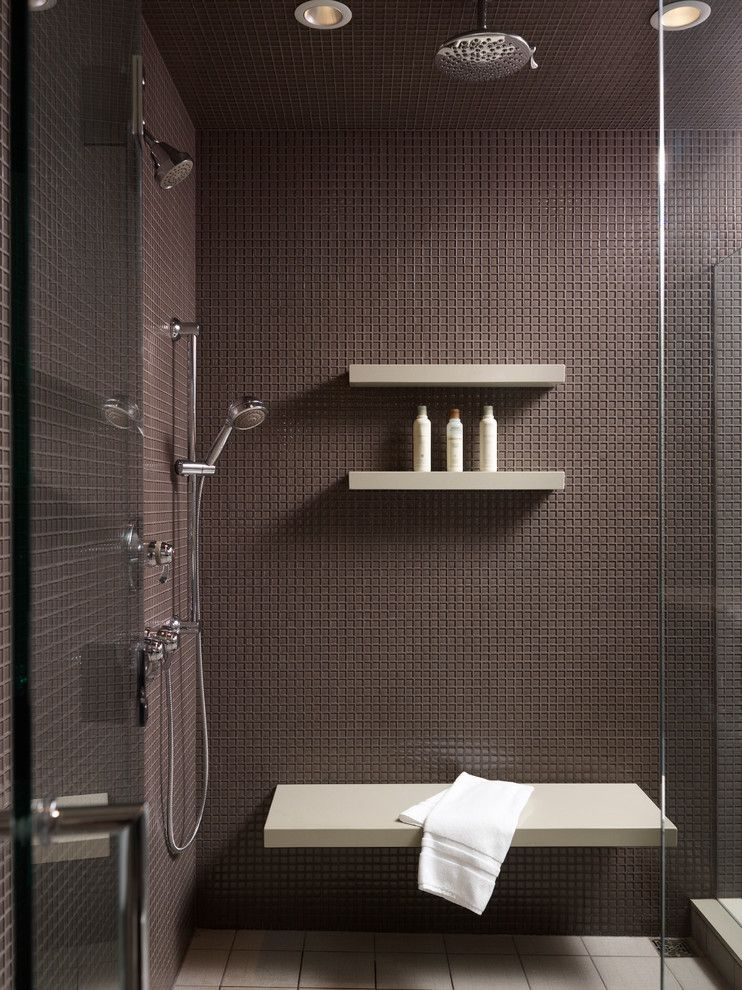 Delightful Glass Shower Shelves For Tile Image Gallery In Bathroom