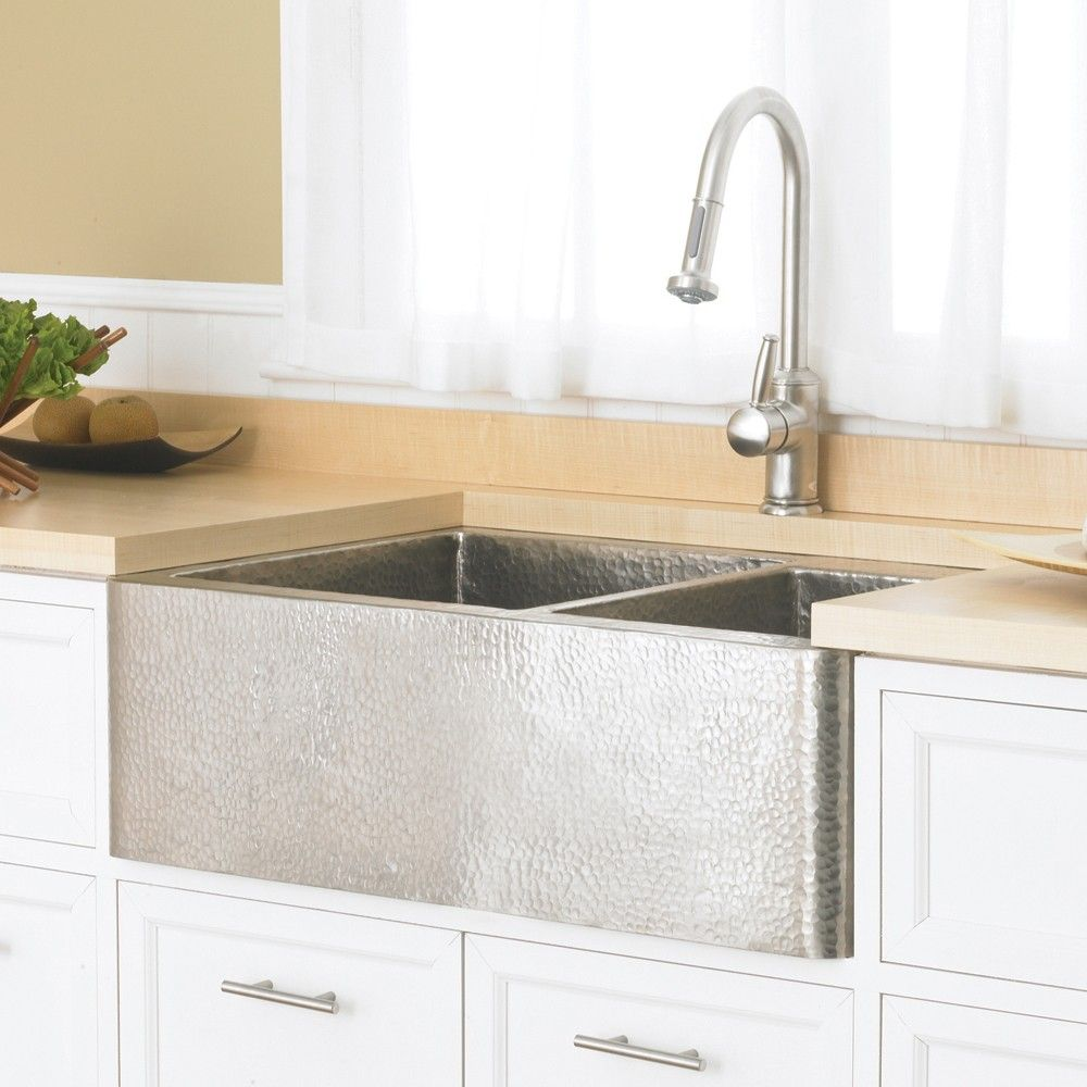 Farmhouse Duet 33 Inch Double Kitchen Sink With Images