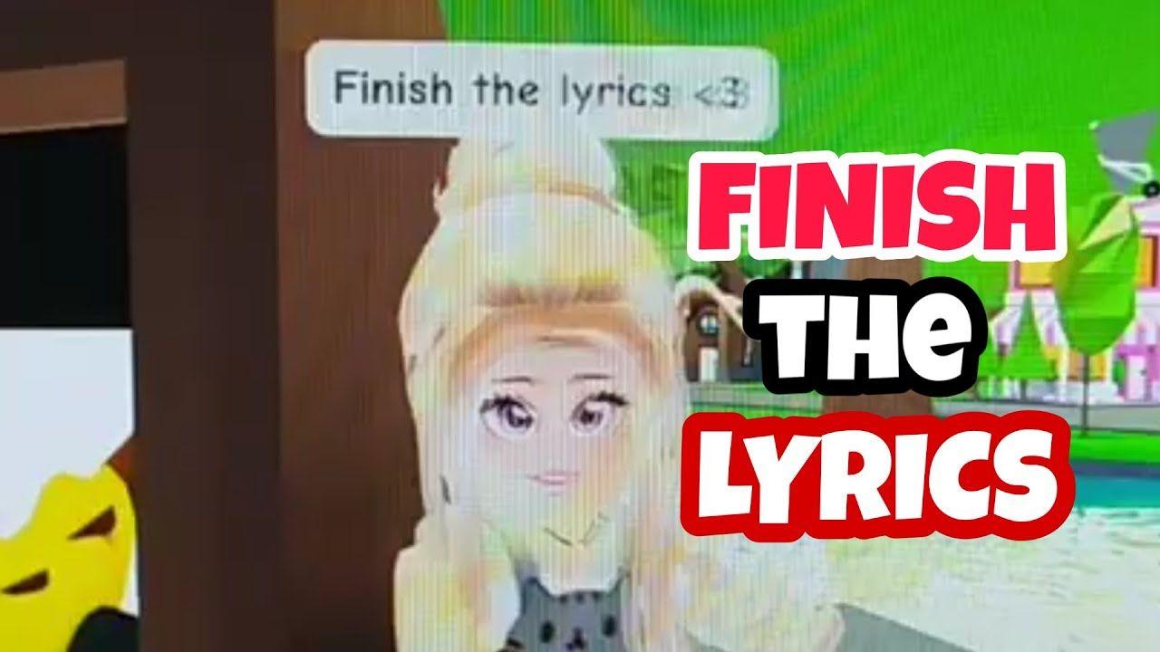 FINISH THE LYRICS TIK TOK! (Adopt me) YouTube in 2020