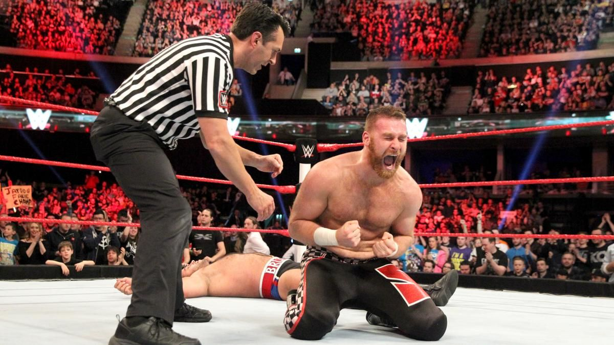 Sami Zayn in Raw after wining Rusev