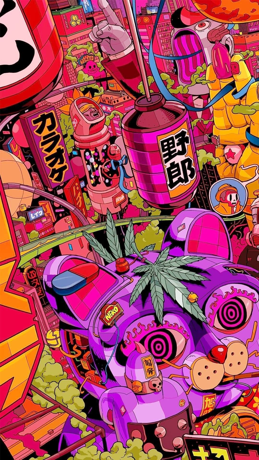 Trippy Stoner Wallpapers : trippy, stoner, wallpapers, Stoner, Trippy, Wallpaper, Android, Download, Hippie, Wallpaper,, Graffiti