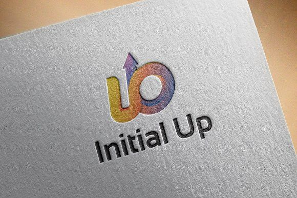 UO UB Initial Logo with Up Arrow | Logo templates, Logos and Template