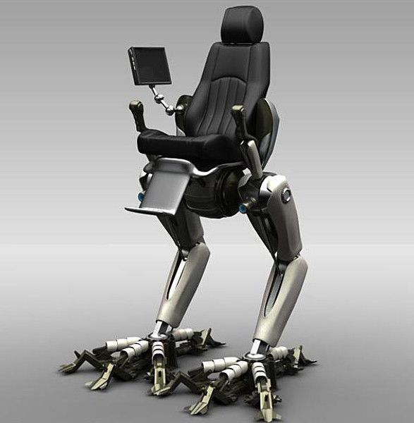 3dsmax Robot Rigged Animation Gamer Chair Robot Chair