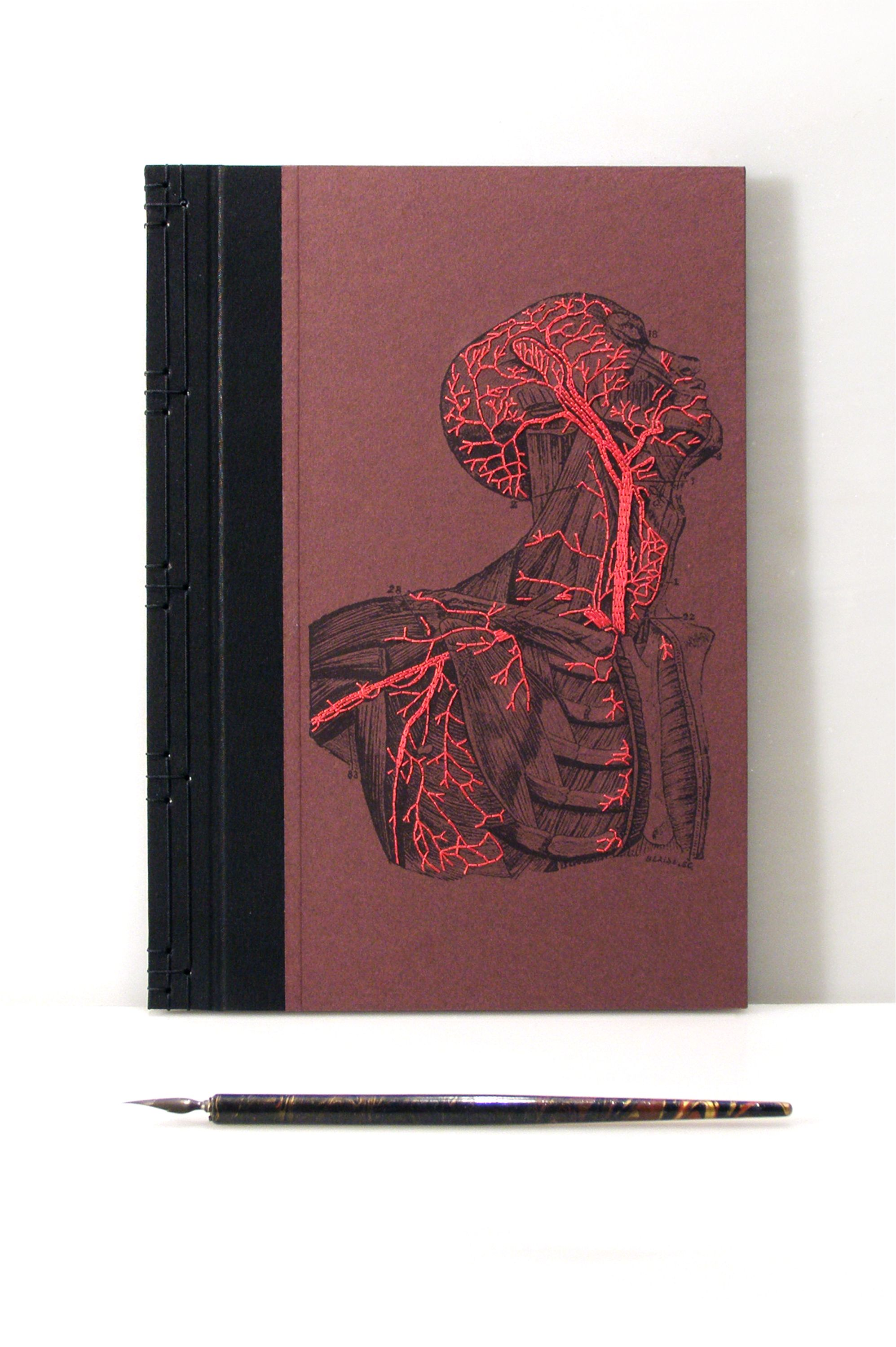 Anatomy Book Embroidered Journal by FabulousCatPapers | My ...