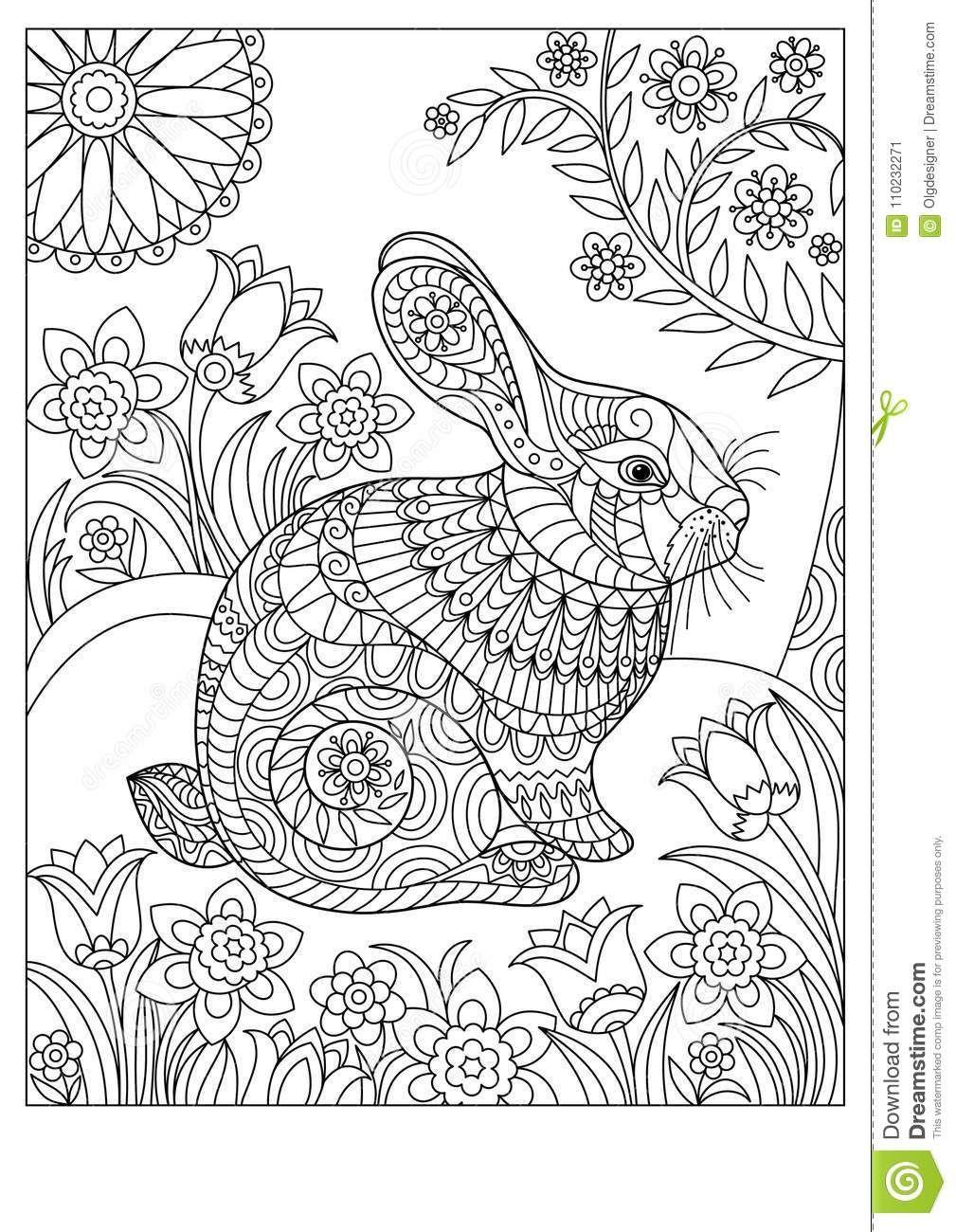 Pin Von Dorota Sokolowska Auf Coloring Rabbit Malvorlagen Tiere Ausmalbilder Malvorlagen Fruhling