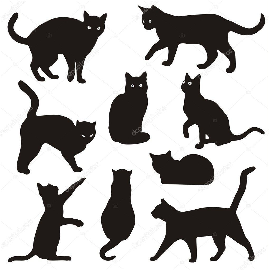 фото татуировок силуэт кошка вкус знаком