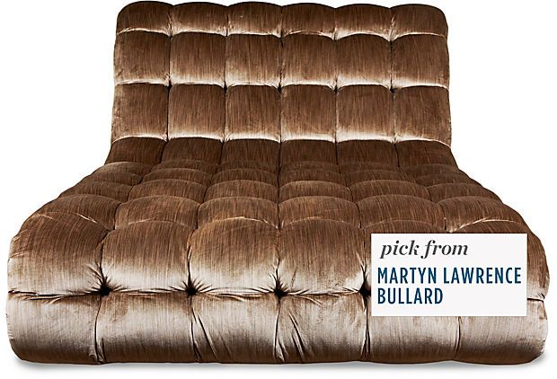 Oversized Tufted Chaise Lounge By Martyn Lawrence Bullard