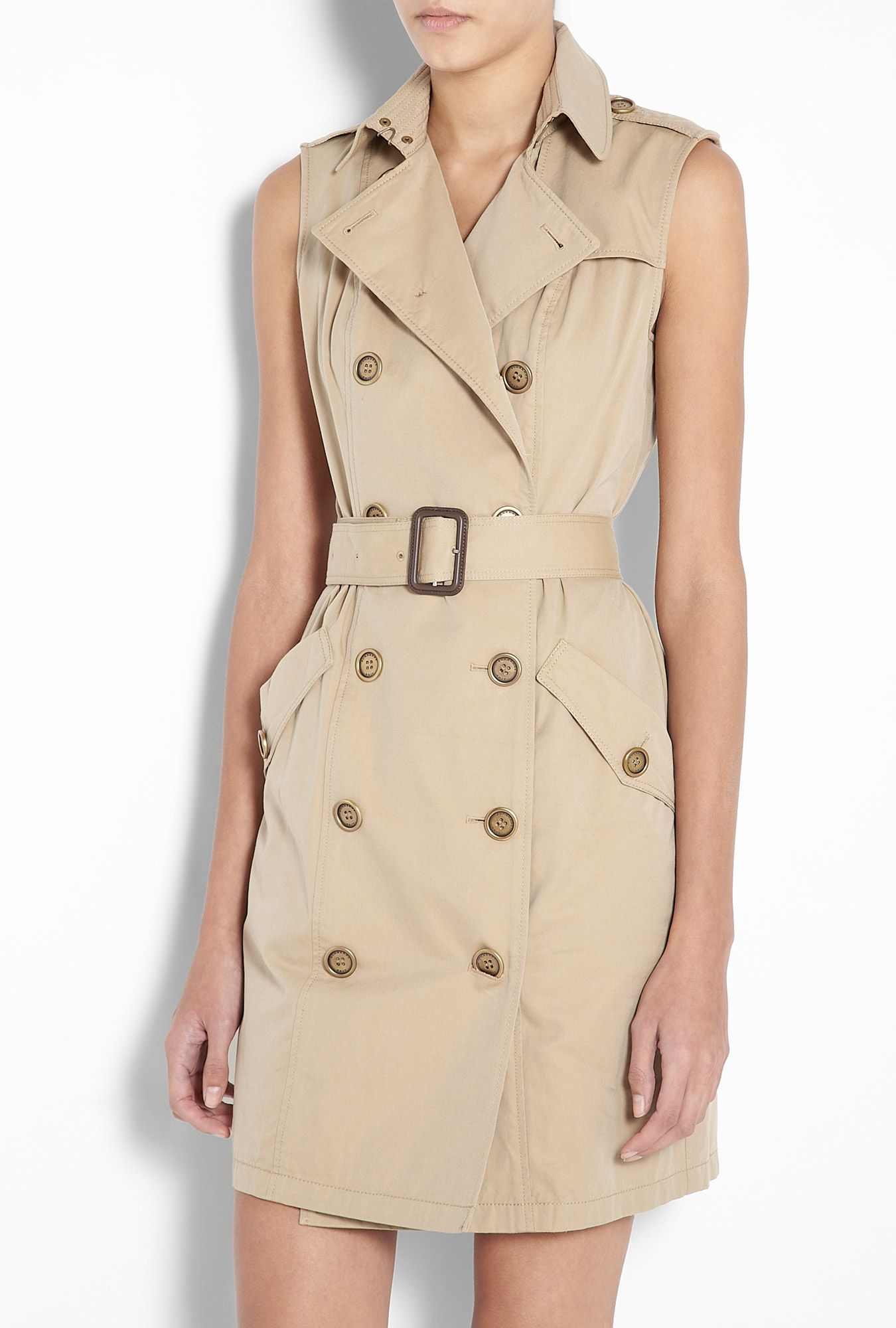 Honey Sleeveless Trench Dress by Burberry Brit