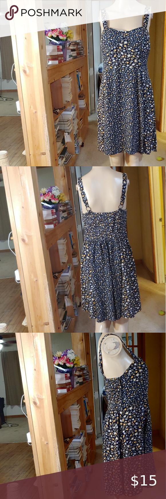 American Eagle Swing Dress Built In Bra Straps Floral Print Dress Summer Swing Dress Printed Summer Dresses [ 1740 x 580 Pixel ]