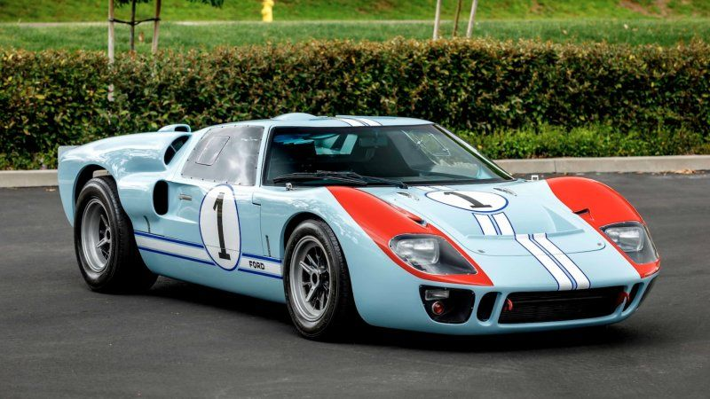 Replica 1966 Ford Gt40 Driven In Ford V Ferrari To Be Auctioned
