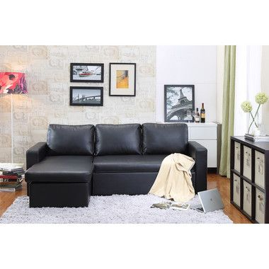 Sofa Sleeper Georgetown Bi Cast Leather pcs Sectional Black Sofa Bed with Storage Products