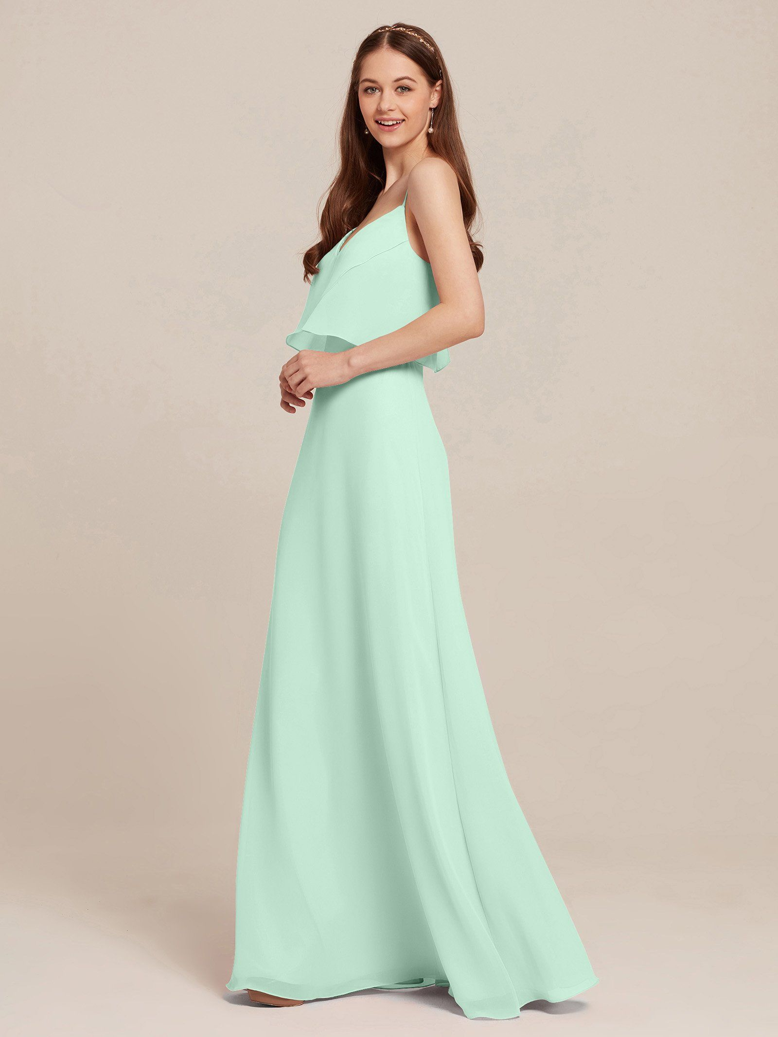150122423e7 Maternity Outfits - oversized maternity maxi dress   AWEI Bridesmaid Dress  Chiffon A Line Prom Party Gown Maxi Beach Summer Dress for Women Spaghetti  Strap ...