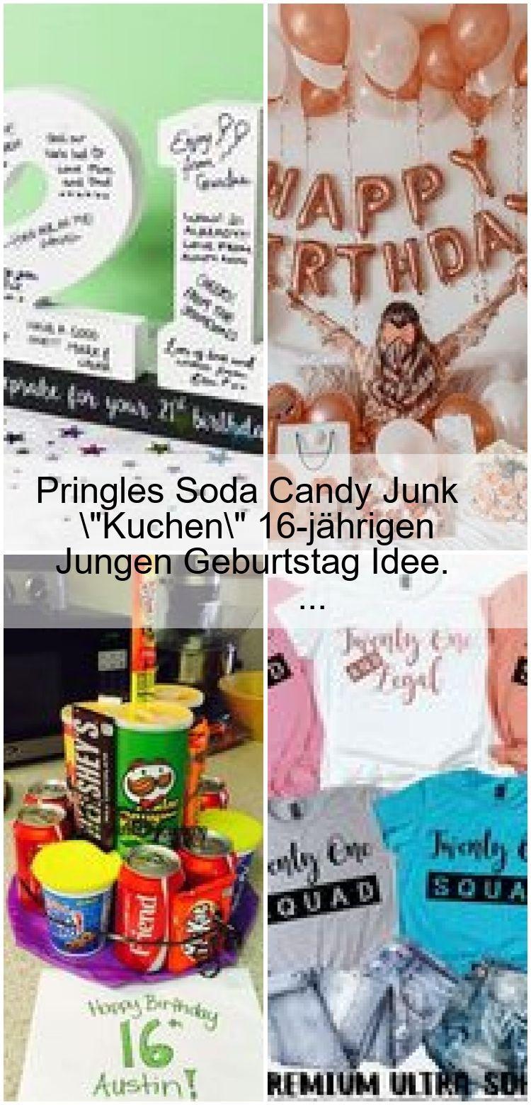 Pringles Soda Candy Junk Cake 16 Jahre Alten Jungen Geburtstag