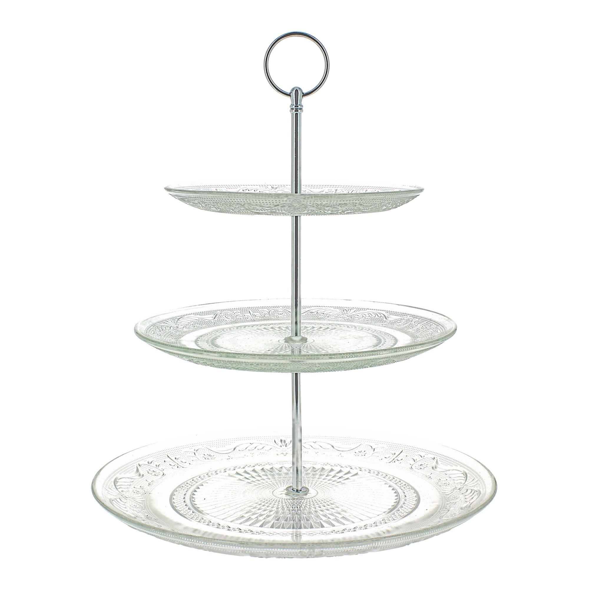 Serviteur à gâteaux 3 étages Transparent - Classica - Les plateaux ...