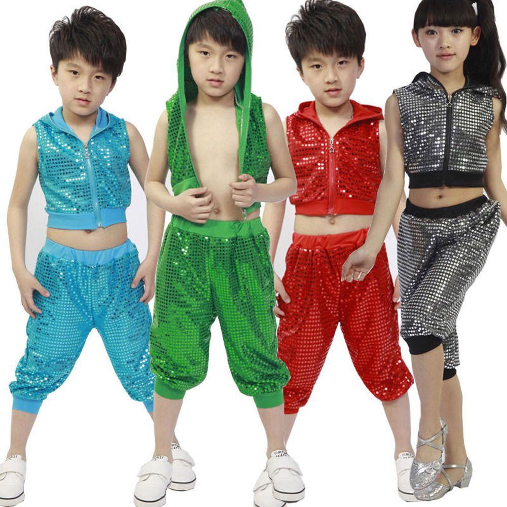 6b41a7c8e  12.94 - Girls Boys Bright Modern Jazz Hip Hop Dance Costumes Kids ...